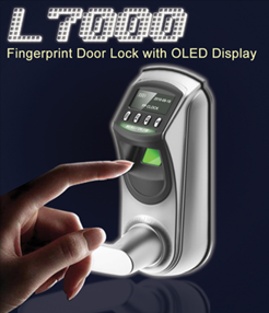 L7000 Fingerprint Door Lock with OLED Display